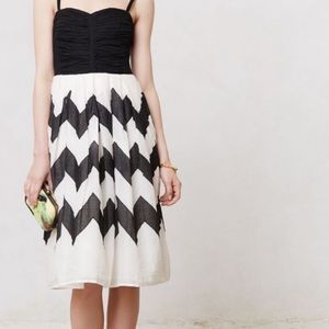 Anthropologie Leifnotes Cherie Strapless Dress